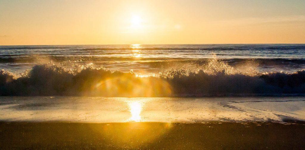 Santa Barbara surf beach sunset image