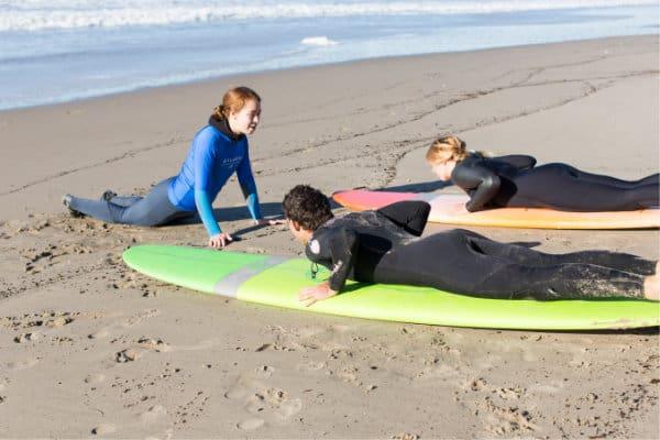 surf lesson beach portion