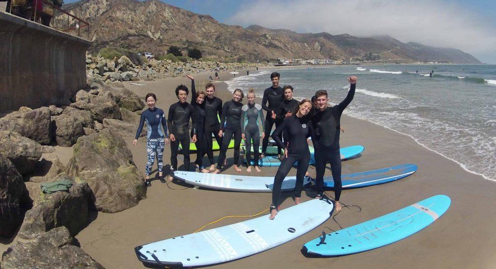 surf lesson at mondos beach