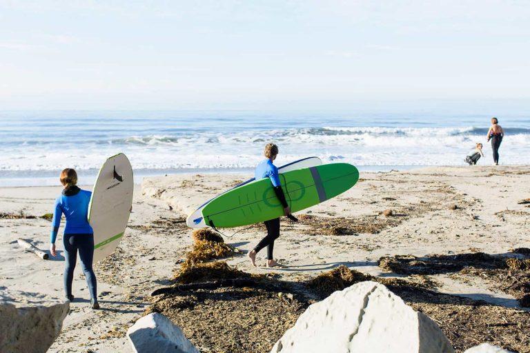 surboards at Santa Barbara beach