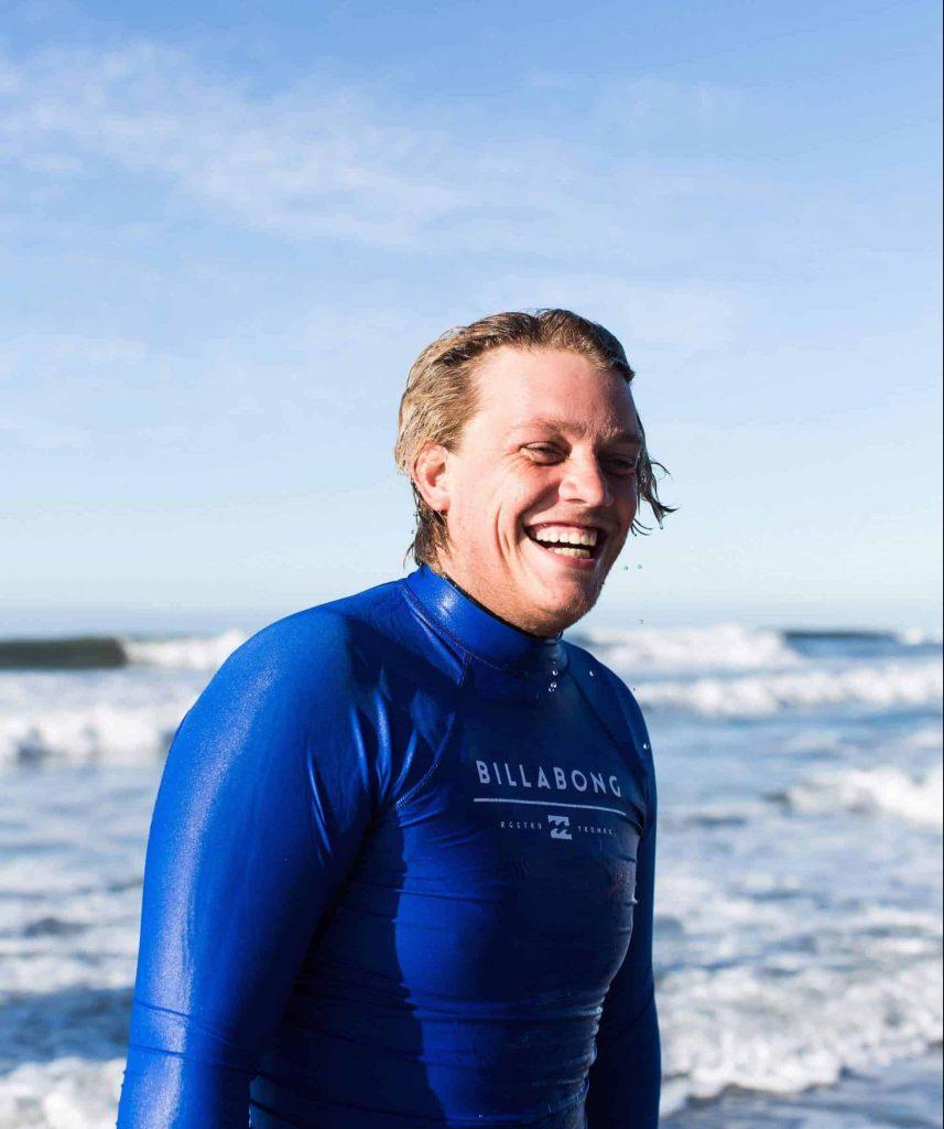 Surf instructor Sean smile image