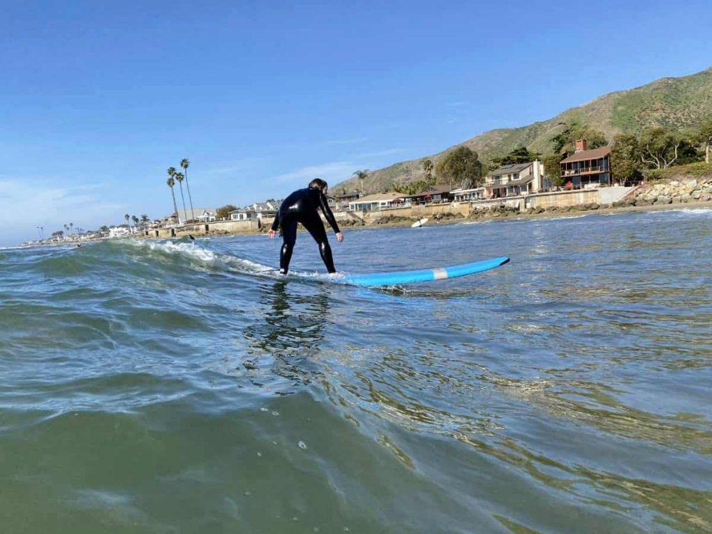 surfing in santa barbara at Mondos